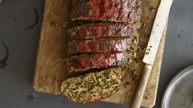 Spicy Meatloaf with Collards