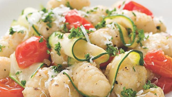 Gnocchi with Zucchini Ribbons & Parsley