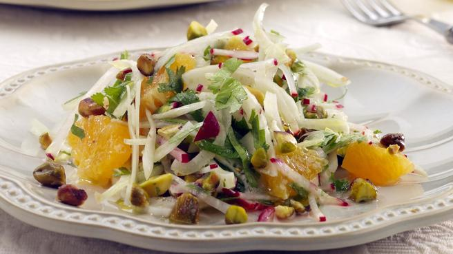 Fennel & Orange Salad with Toasted Pista