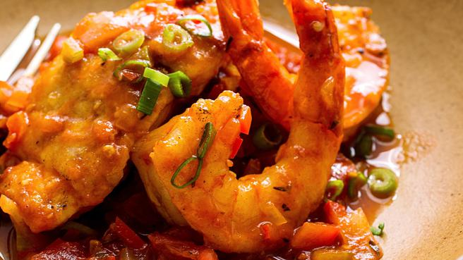 Snapper & Shrimp with Creole Sauce