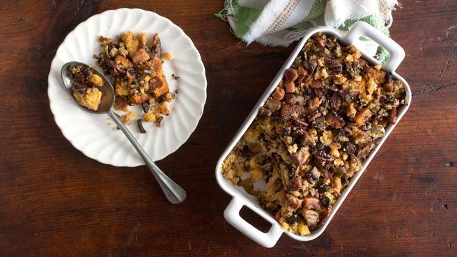 Mushroom-Cornbread Stuffing