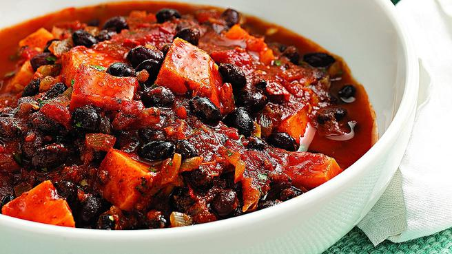Sweet Potato & Black Bean Chili for Two