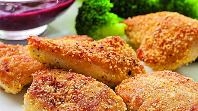Cornmeal-Crusted Chicken Nuggets