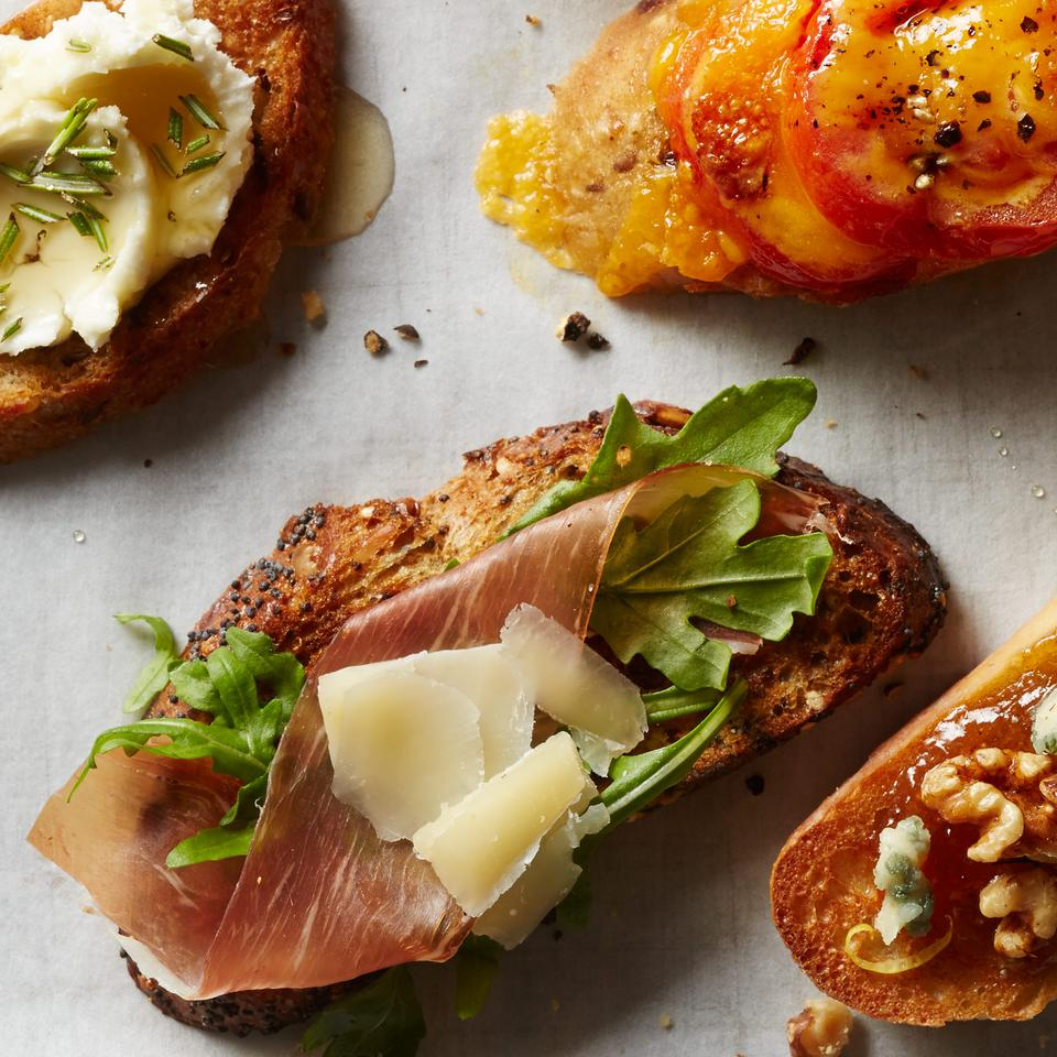 Healthy Appetizer Toast Recipes