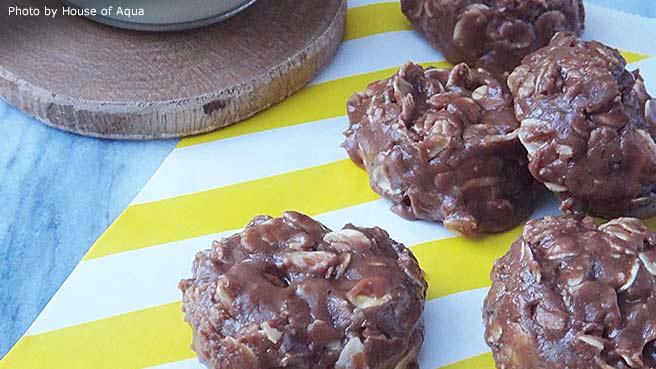Cinnamon Nutella® No-Bake Cookies