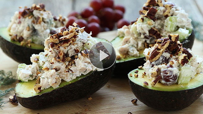 Make Stuffed Avocados with Chicken Salad