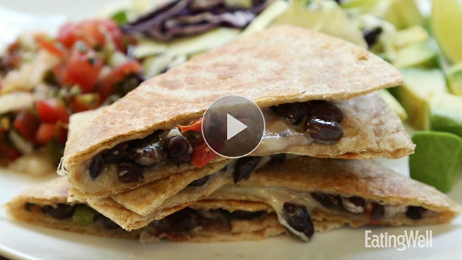 How to: Vegetarian Black Bean Quesadilla