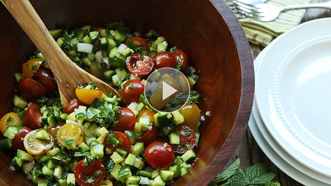 Fresh Persian Cucumber & Tomato Salad