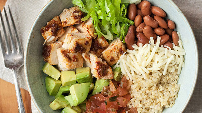 Homemade Chipotle Chicken Burrito Bowl