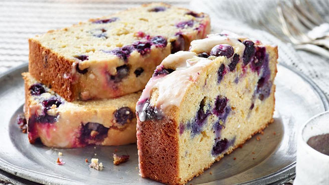 One-Bowl Blueberry-Lemon Pound Cake