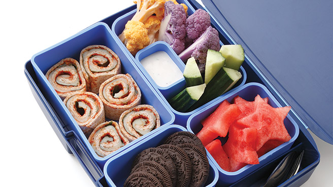 Pizza Roll-Up Bento Box Lunch