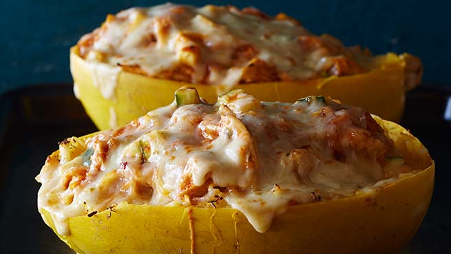 Healthy fall recipes eatingwell chicken enchilada spaghetti squash forumfinder Choice Image