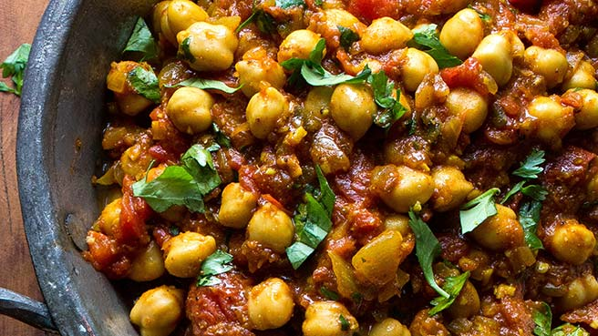 Kid friendly vegetarian dinner recipes eatingwell 15 minute chickpea curry forumfinder Gallery