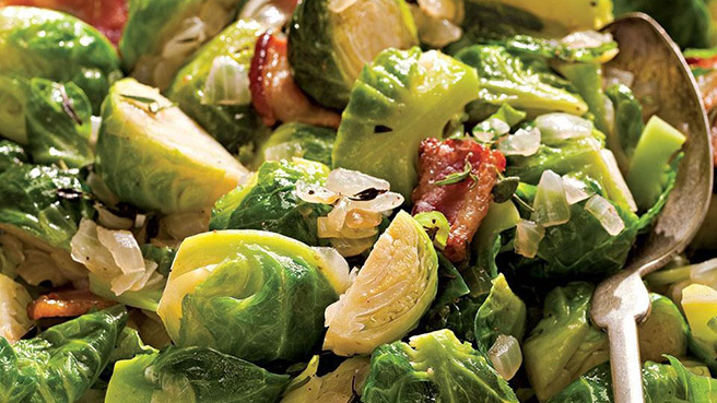 Our Best Brussels (with Bacon!)
