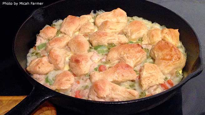 Mom S Fabulous Chicken Pot Pie With Biscuit Crust