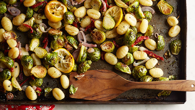 Roasted Gnocchi & Brussels Sprouts