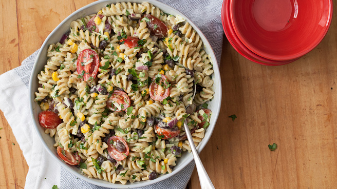 Mexican Pasta Salad with Creamy Avocado