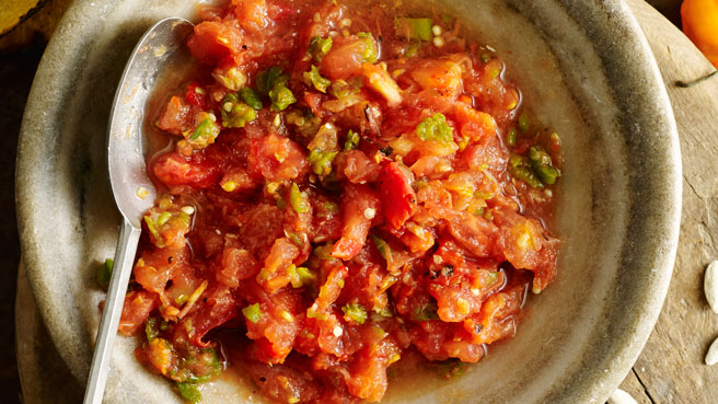 Roasted Three-Chile Salsa