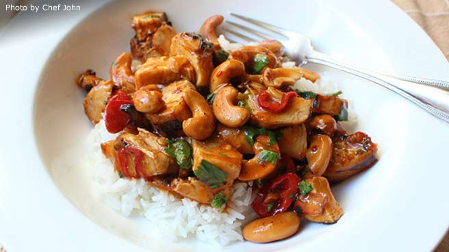 Chef John s Cashew ChickenChinese Chicken Main Dish Recipes   Allrecipes com. Dinner Ideas For Two Chinese. Home Design Ideas