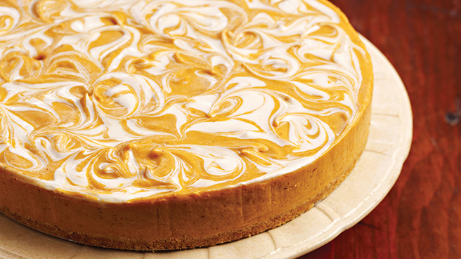 No-Bake Pumpkin Swirl Cheesecake