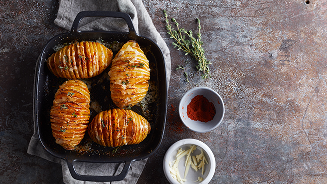 Hasselback Potatoes with Cheese