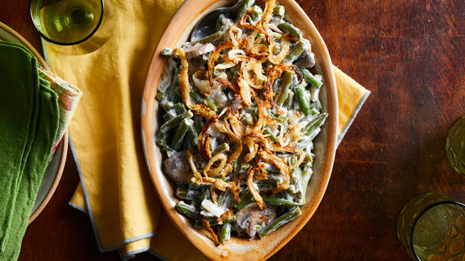 Slow-Cooker Green Bean Casserole with Cr