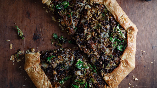 Onion & Brussels Sprout Galette
