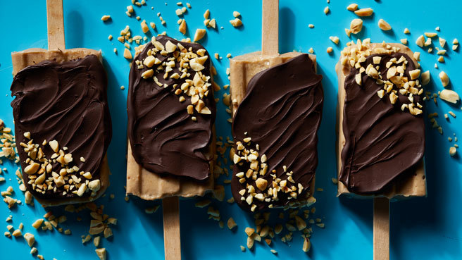 Chocolate-Covered Banana Ice Cream Bars