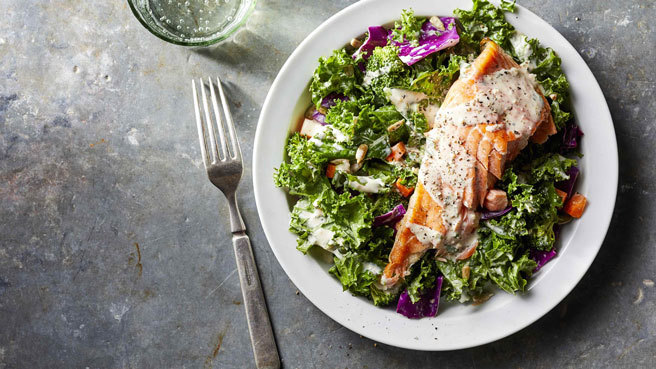 Superfood Chopped Salad with Salmon