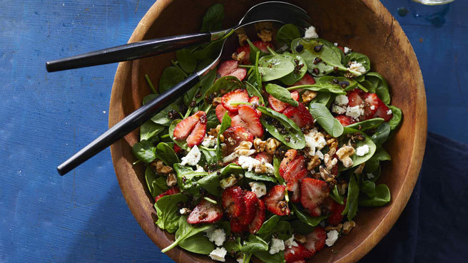 Spinach-Strawberry Salad with Feta
