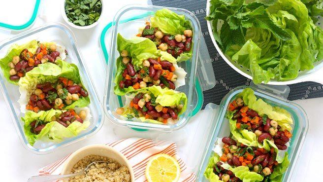 Meal-Prep Vegan Moroccan Lettuce Wraps