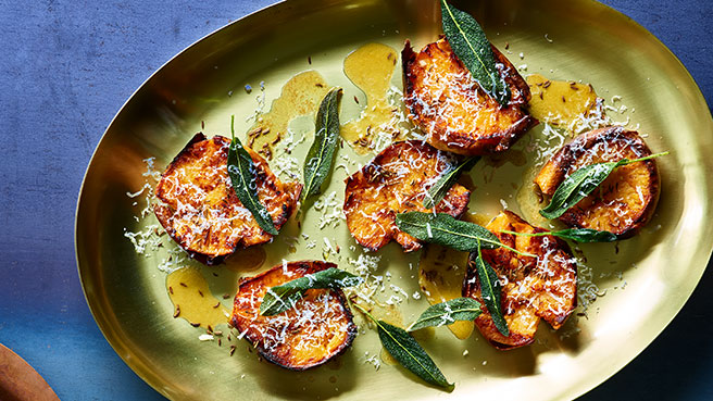 Roasted Rutabagas with Crispy Sage