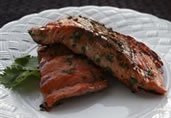 Grilled Cilantro Salmon
