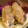 Raspberry Vinegar Chicken Breasts Recipe - Cream and tangy raspberry vinegar makes a sublime sauce for sauteed chicken.