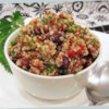 Zesty Quinoa Salad Recipe and Video - Quinoa and black beans are tossed in a refreshing lime-cilantro vinaigrette for a quick and protein-packed lunch or side dish.