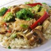 Stir-Fry Chicken and Vegetables Recipe - This quick chicken stir-fry has plenty of broccoli, bell pepper, and zucchini. Serve with rice to soak up all the delicious sauce.
