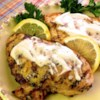 Grilled Lemon Yogurt Chicken Recipe and Video - Chef John's tangy lemon- and yogurt-marinated chicken is grilled to caramelized perfection and served with a flavorful harissa yogurt sauce.