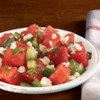 Refreshing Watermelon Salad from ATHENOS Recipe - It's been called everything from 'refreshing' to 'unexpectedly wonderful.' Whatever you call it, feta, balsamic and fresh watermelon unite for a delightfully unique salad.