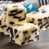 Cookies 'n' Creme Fudge Recipe - Creme-filled chocolate cookies are great in this white chocolate fudge.