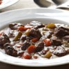 Hearty Cranberry-Bison Stew Recipe - Bison meat's rich flavor is complemented by fresh cranberries, herbs, and vegetables in this tasty stew with a tangy  twist.