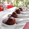 Cocktail Meatballs Recipe and Video - These tasty, slow cooked, cocktail meatballs simmered in cranberry sauce will disappear quickly from anyone's holiday party.