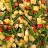 Whitney and Ashley's Flawless Roasted Vegetables Recipe and Video - Zucchini, yellow squash, red bell pepper, and onions are tossed with olive oil and herbs and roasted until just tender in an easy-to-clean-up parchment-lined pan.