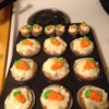 Carrot Cake Cupcakes with Cream Cheese Icing Recipe - Give these carrot cupcakes with cream cheese frosting to your favorite Easter bunnies this year. Everyone will love them.