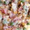 Kim's Summer Corn Salad Recipe - This summery vegetable combo is the perfect quick side dish to prepare before you head over to the big cookout!