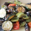 Grilled Vegetables with Balsamic Vinegar Recipe - Smoky slices of grilled eggplant, zucchini, and green bell peppers marinated in balsamic vinegar and soy sauce make a terrific summer side dish.