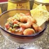 Tejano Style Shrimp Cocktail Recipe - Shrimp cocktail, South Texas-style, with cilantro and serrano chiles. Serve with saltine crackers.