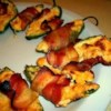 Bacon Cheddar Jalapeno Poppers Recipe - Quick & easy!  Only 3 ingredients required: bacon, a block of Cheddar cheese and jalapeno peppers. The men in my family are crazy about these yummy treats.  In fact, my husband often eats them as a meal!