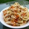 Mayo Free Cabbage Salad Recipe - A simple coleslaw without mayonnaise marinates in a sweet and tangy dressing and is served cold. It's easy to make because you use a bag of shredded cabbage. Chill overnight for the best flavor.