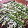 Asparagus Casserole I Recipe - Asparagus layered with almonds and mushroom soup and baked between cracker crumb and cheese crusts.