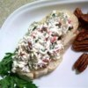 Olive Pecan Spread Recipe - This delicious spread is a hit with everyone. Even people, like me, who don't care for green olives absolutely love it.
